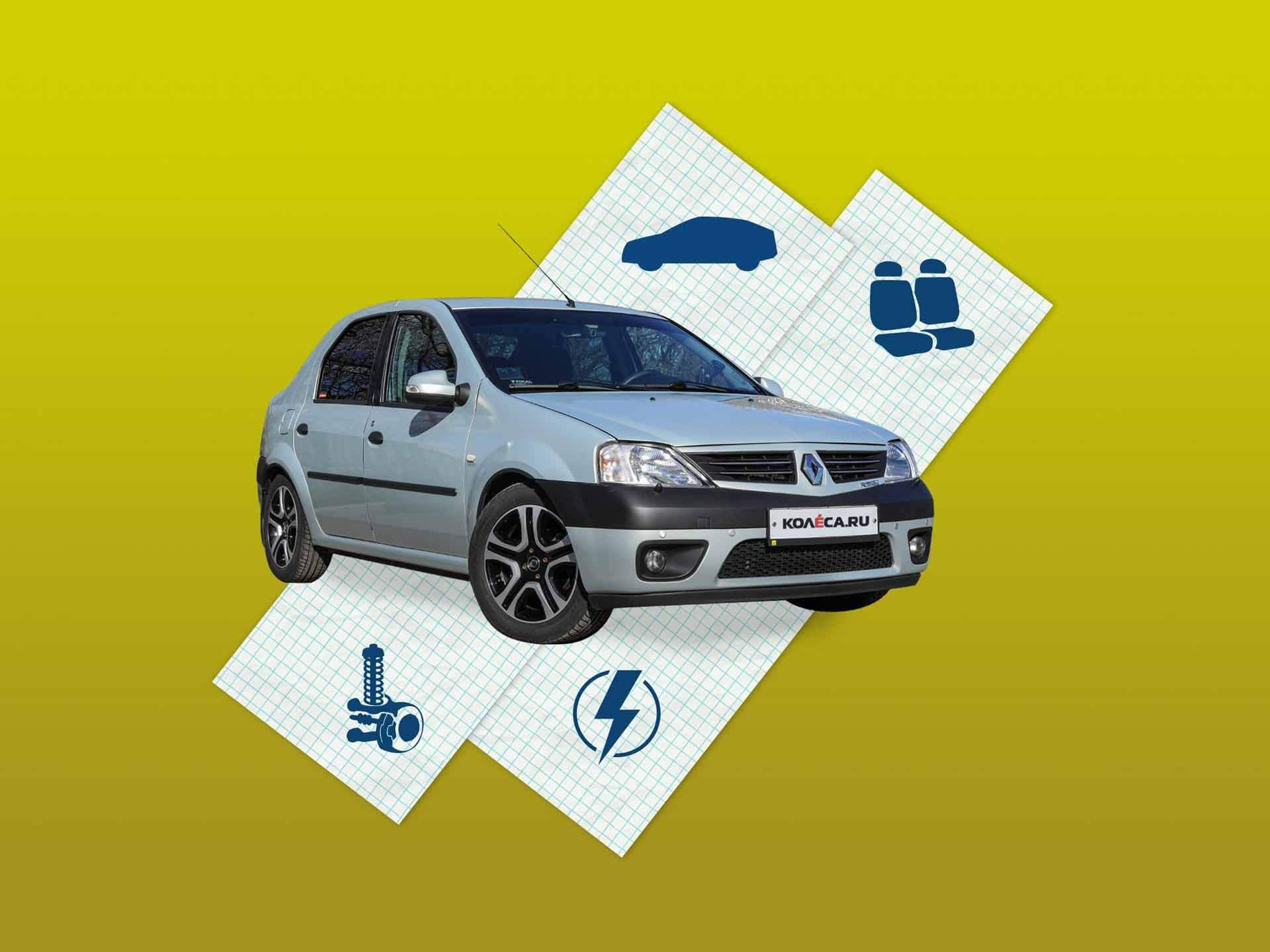 Renault Logan I с пробегом: кузов, салон, электрика