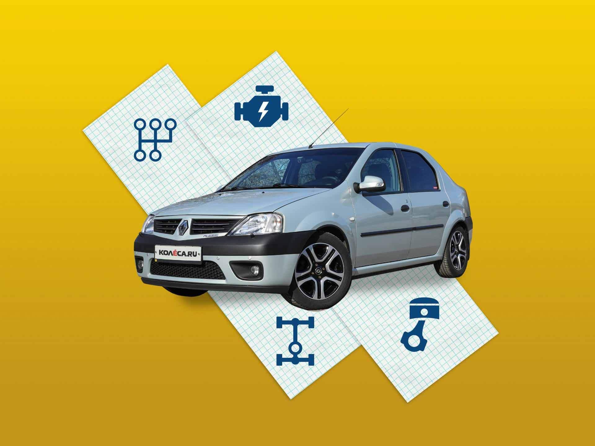 Renault Logan I с пробегом: тормозная система, подвеска, двигатели, коробки передач