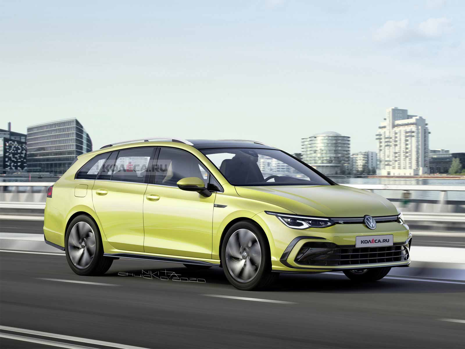 Новый универсал Volkswagen Golf Variant 2021