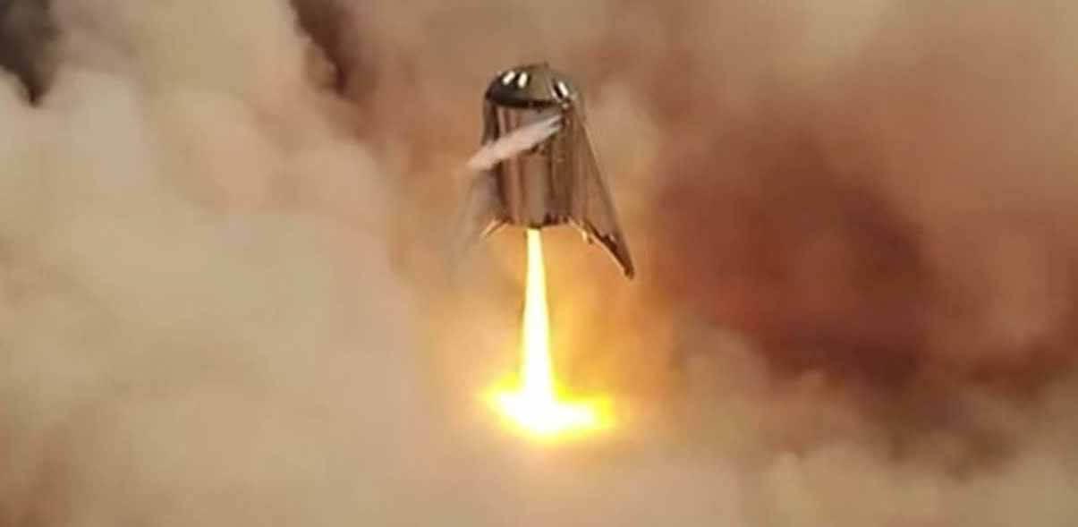 Прототип SpaceX Starship SN4 взрывается в драматическом огненном шаре